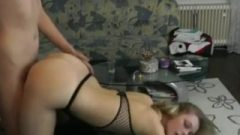 Voluptuous Blonde Teen Gets Smashed Raw From Behind