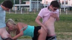Daring PUBLIC Teens Group Street Sex Act Orgy Gangbang In Broad Daylight