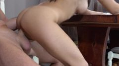 Nasty Enormous Stud Ruined Deep And Raw With Cream Pie His Tiny Tight Girl!