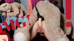 Misshornyg, Tiny Whore Fuck Own Teddy Bear In Doggy Style And Sperm Raw!