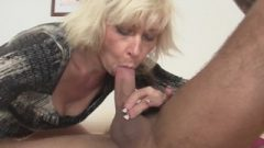 Girlfriends Titillating Fair-haired Mom Takes Smashed From Behind