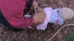 Banging My Bitch Ebony Step Daughter Doggystyle On Forest Grass Outdoors High Definition