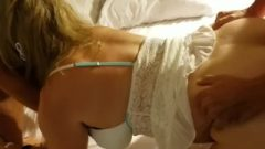 Two Strangers Spitroast My Fair-haired Hotwife